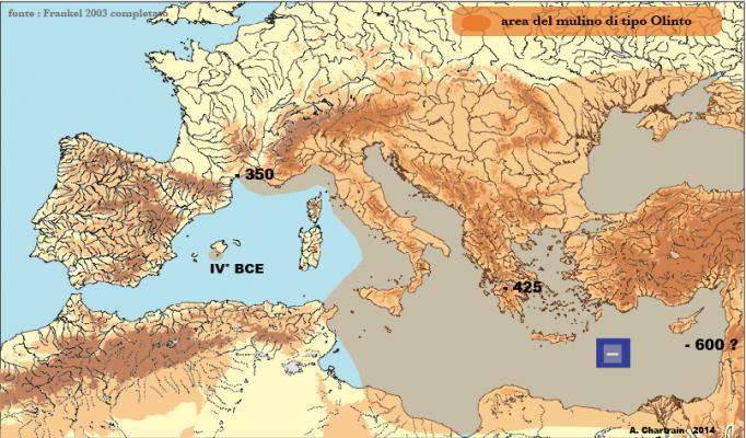 Area diffusione olinto
